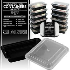 Heim Concept Premium Meal Prep Food Containers Compact Stackable Storage 144 pcs