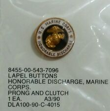 United States Marine Corps Honorable Discharge Lapel Pin / Button - USMC