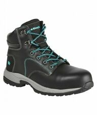 KING GEE • WOMENS EH TRADIE BOOTS (K27360) • BLACK/TEAL • SIZE 11 US • BRAND NEW
