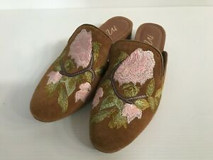 Matisse ladies suede embroidered mules Size 7m