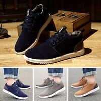 US Men's Sports Running Athletic Sneakers Suede Shoes Casual Driving Moccasins
