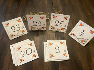 """Table Markers Set Of 25 Cards With 15 Stands Wedding Baby Shower Party - 5"""" x 5"""""""