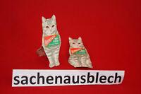Werbeaufsteller Hoffmanns Stärke alt 30er weisse Katze