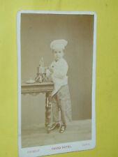 CDV carte de visite PETIT CUISINIER phot Chambay Grand Hotel photo photographie