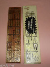 VINTAGE TOY  GAME 1970-80S  WOOD CRIBBAGE BOARD in BOX