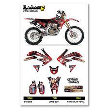 2005 - 2014  HONDA CRF 450 X Dirt Bike Graphics kit Solitaire Decal by Enjoy MFG