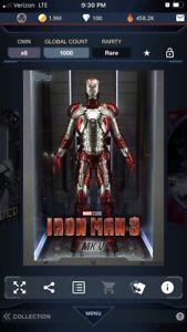 Topps Marvel Collect DIGITAL IRON MAN 3 SUIT UP IRON MAN MK V 1000CC