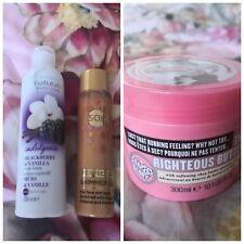 Soap & Glory Righteous Butter Avon body lotion Solait Shimmer Oil bundle set NEW