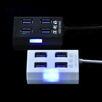 High Speed 4 Port USB 2.0 Multi HUB Splitter Expansion Desktop PC Laptop Adapter