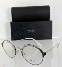 Brand New Authentic Prada Eyeglasses VPR 54V 274 - 1O1 Silver 49mm Frame