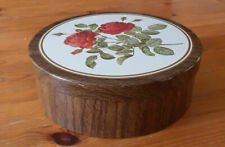 2 Collectable Tin Boxes  Floral Pattern (1972) rare plus German Coffee Tin