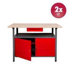 2 x Werkbank Werktisch Werkstatt Metall Werkplatte Werkstatttisch 30 mm Platte