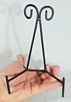 One (1) LARGE Scroll Iron Easel Metal Display Stand For Plates Antiques & More!