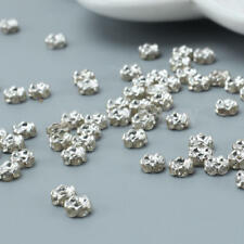 100 x  6mm Crystal Rhinestone Rondelle Charm Spacer Beads for Jewelry Making DIY