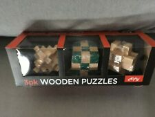 NIFTY Wooden Puzzle Games Brain Teasers Logic Toy Puzzles HOME SCHOOL Hands On