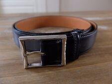 BERLUTI belt black Paris Size 110 (fits size 42 waist best) gents authentic NWOT