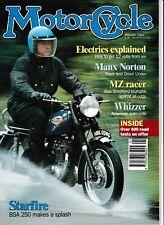 CM Jan 1993 Whizzer MZ racer, BSA Starfire Manx Norton, Anzani Triumph Ricardo