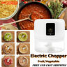 Electric Food Speedy Chopper Spiral Slicer  Fruit Vegetable Onion Garlic Cutter