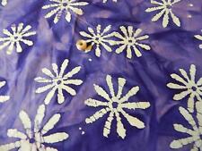 Beautiful 42/44 Wide Lite And Dark Purple With White Quilt/Craft Batik Fabric
