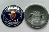50mm Saab Scania Blue Front Hood Bonnet Emblem Badge Decal Sticker Logo
