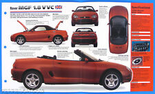 Rover MGF 1.8 VVC UK 1995-1998 Spec Sheet Brochure Poster IMP Hot Cars 1 #23