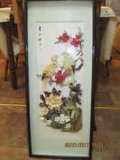 VERY BEAUTIFUL Japanese Mother of Pearl Shell Art Picture.