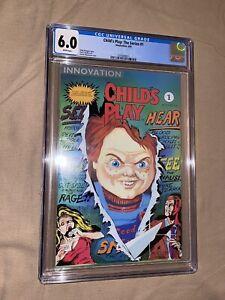 CHILD'S PLAY: The Series #1 Innovation Comics CGC Graded Horror Chucky RARE Book