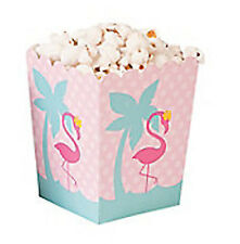 PINK FLAMINGO PARTY Mini Popcorn Favour or Gift Boxes Pack of 6 Free Postage