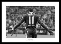 Didier Drogba Chelsea 2012 Champions League Final Photo Memorabilia (46BW)