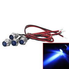 4pz Universale Luci LED Indicatori Bulb Lamp Blu Cruscotto Auto Moto Camion
