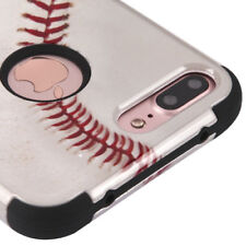 FOR IPHONE 8 PLUS/7 PLUS BASEBALL DESIGN SHOCKPROOF CASE TUFF RUGGED COVER