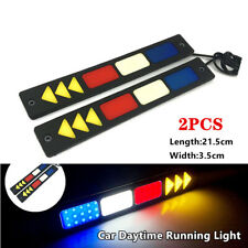 2PCS 12V LED Car Daytime Running Light Driving Bulbs Day light Strip Fog Lamp