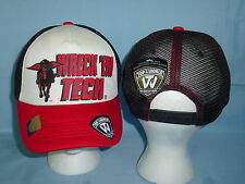 TEXAS TECH RED RAIDERS Snapback Trucker CAP/HAT T.O.W. One Size Fits All NWT $22