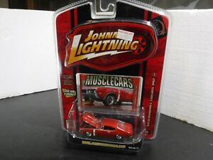 Johnny Lightning Musclecars 1/64 Scale 68 Oldsmobile Cutlass 442 R12 No 64 Red