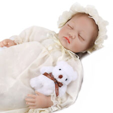 22'' Reborn Baby Dolls Vinyl Silicone Baby Girl Doll Real Life Newborn Gifts US