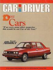 AMC Renault Alliance 10 Best Cars 1983 USA Market Leaflet Brochure Car & Driver