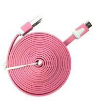 3M Long Pink Flat Micro USB Charger Data Cable for Samsung S6 S7 HTC Huawei LG