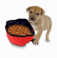 Portable Travel Pet Nylon Food and Water Dog Bowl