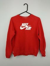 VTG RETRO WOMENS RED NIKE ATHLETIC SPORTS OVERHEAD SWEATSHIRT JUMPER VGC 10-12