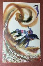 "Soviet postcard 1973 Hauff fairy tale. ""Said's Adventures"" Guy Said Dolphin Gull"