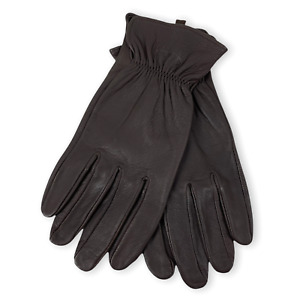 NEW CC FILSON Brown 100% Deerskin Leather Fall Winter Gloves Sz L