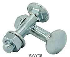 NUTS /& WASHERS ZINC BZP DIN603//555 M10 COACH BOLTS CUP SQUARE CARRIAGE BOLTS
