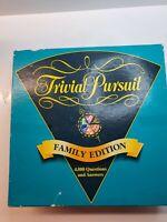 Trivial Pursuit Family Edition | Vintage Board Game 1995 Parker | Age 10+