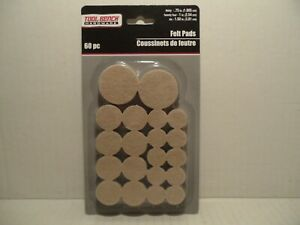 60 Pc Self Adhesive Felt Pads Furniture Floor Scratch Protector Beige Free Ship