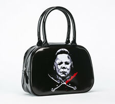 Rock Rebel Halloween Ii Michael Myers Cross Knives Classic Horror Handbag Purse