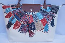 New Longchamp Le Plcol Mssai LG Shoulder Tote Nylon Bag Handbag
