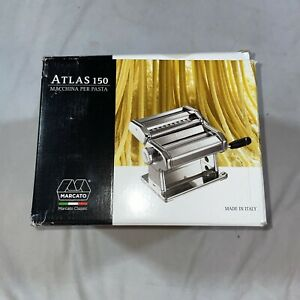 Marcato Atlas 150 Pasta Machine, Made in Italy, Includes Cutter, Hand Crank, ...