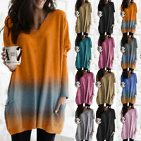 Plus Size Womens Pullover T-Shirt Batwing Sleeve Jerseys Tunic Top Baggy Jumper