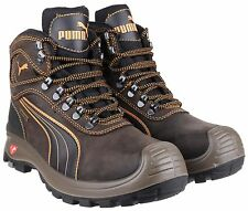 Puma Sierra Nevada Mid Brown S3 SRC Safety Composite Toe Cap Mens Boots UK6-13