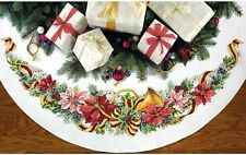 Counted Cross Stitch Kit  HOLIDAY HARMONY TREE SKIRT Dimensions